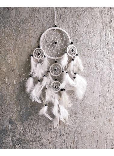 Arte Casero Düş kapanı, Rüya kapanı, Dream Catcher 12cm Beyaz Beyaz
